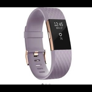 Rose gold fit bit charge 2 small